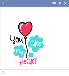 My Heart Sticker