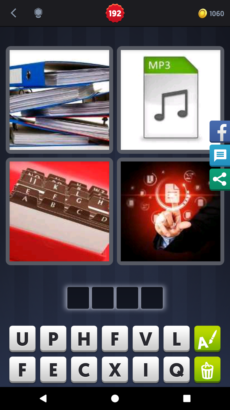 4 pics 1 word answers solutions level 193 file answer file keyword 4 letter word file mp3 expocarfo Image collections