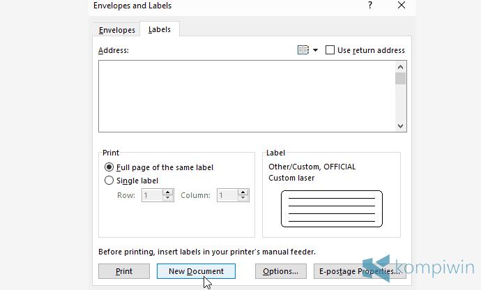 cara membuat label buku