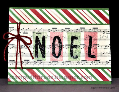 Layered Letters Alphabet, Stampin' Up!, Stamp with Trude, Christmas, Tuesday Tutorial