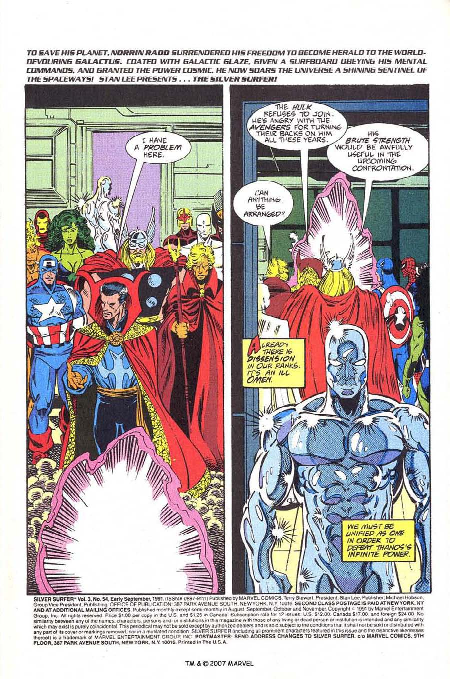 Read online Silver Surfer (1987) comic -  Issue #54 - 3
