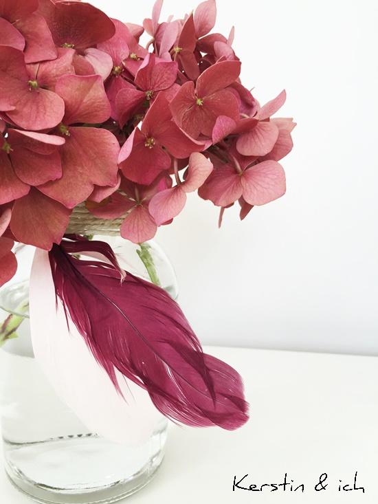 Deko Blume Feder Herbst