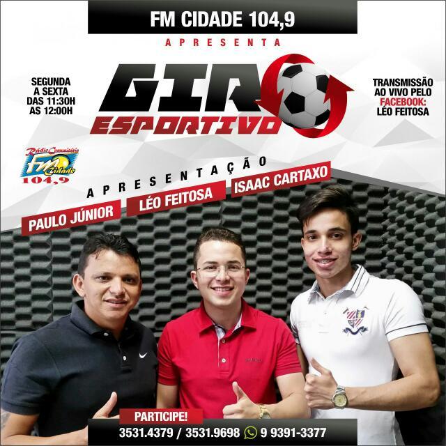 Rádio Cidade FM estreia programa esportivo nesta Segunda-Feira