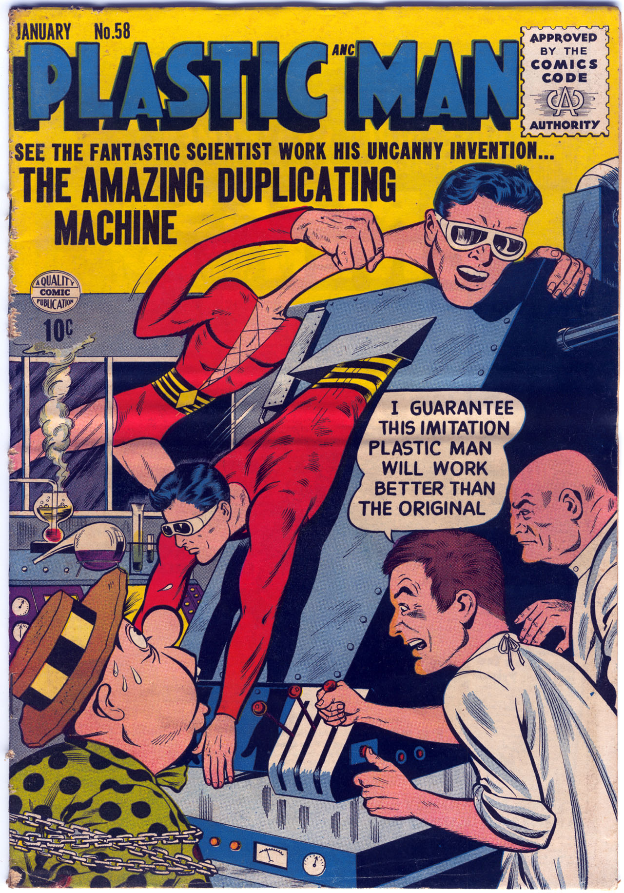 Plastic Man (1943) 58 Page 1