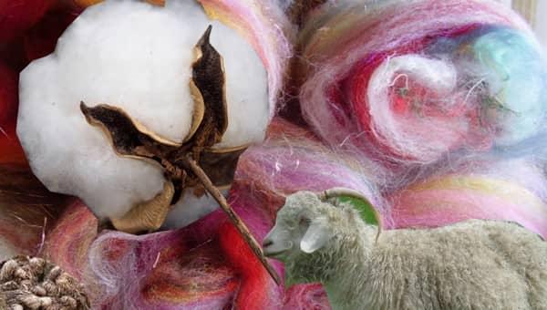 Various textile fibres