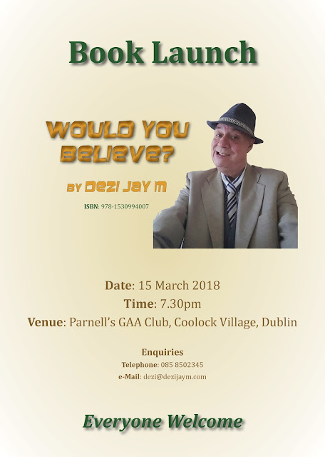 Book Launch poster – Would You Believe? by Dezi Jay M