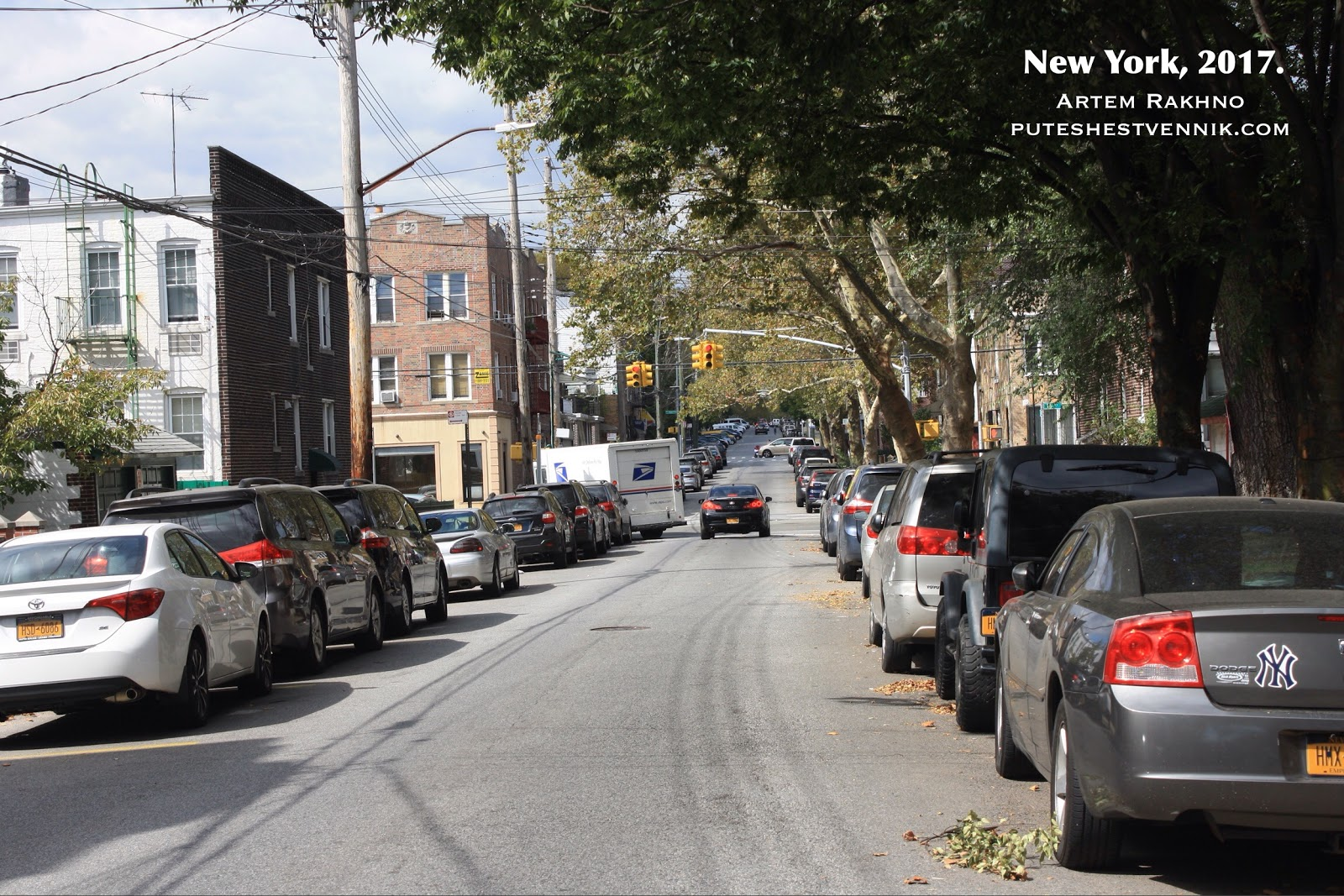 Одна из улиц в Бруклине