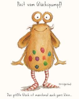 Pumpf, Kinderbuch, Glück, Resilienz, Loni lacht, Glückspumpf, kinderbuchillustration, monster, niedlich