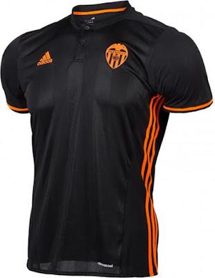 Jersey Spain Black 2016 2017 camisetas de futbol Valencia Soccer Jersey Spain Football Shirt