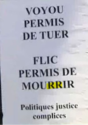 Manif de policiers à Clermont-ferrand
