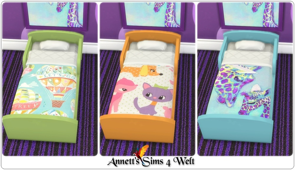 Annetts Sims 4 Welt Toddlers Bed