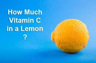 how much vitamin c quantity in a lemon