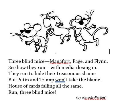 Three Blind Mice—Manafort, Page, and Flynn
