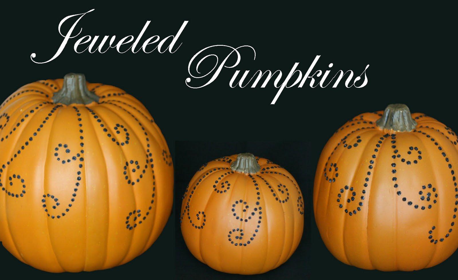 Pretty Jeweled Pumpkins D.I.Y. Craft & Pretty Jeweled Pumpkins D.I.Y. Craft u2013 Glorious Treats