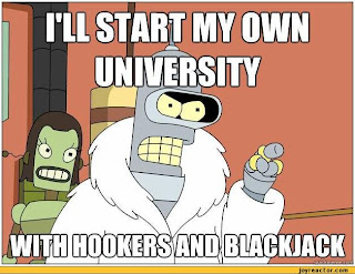 Bender talking about hookers and blackjack.