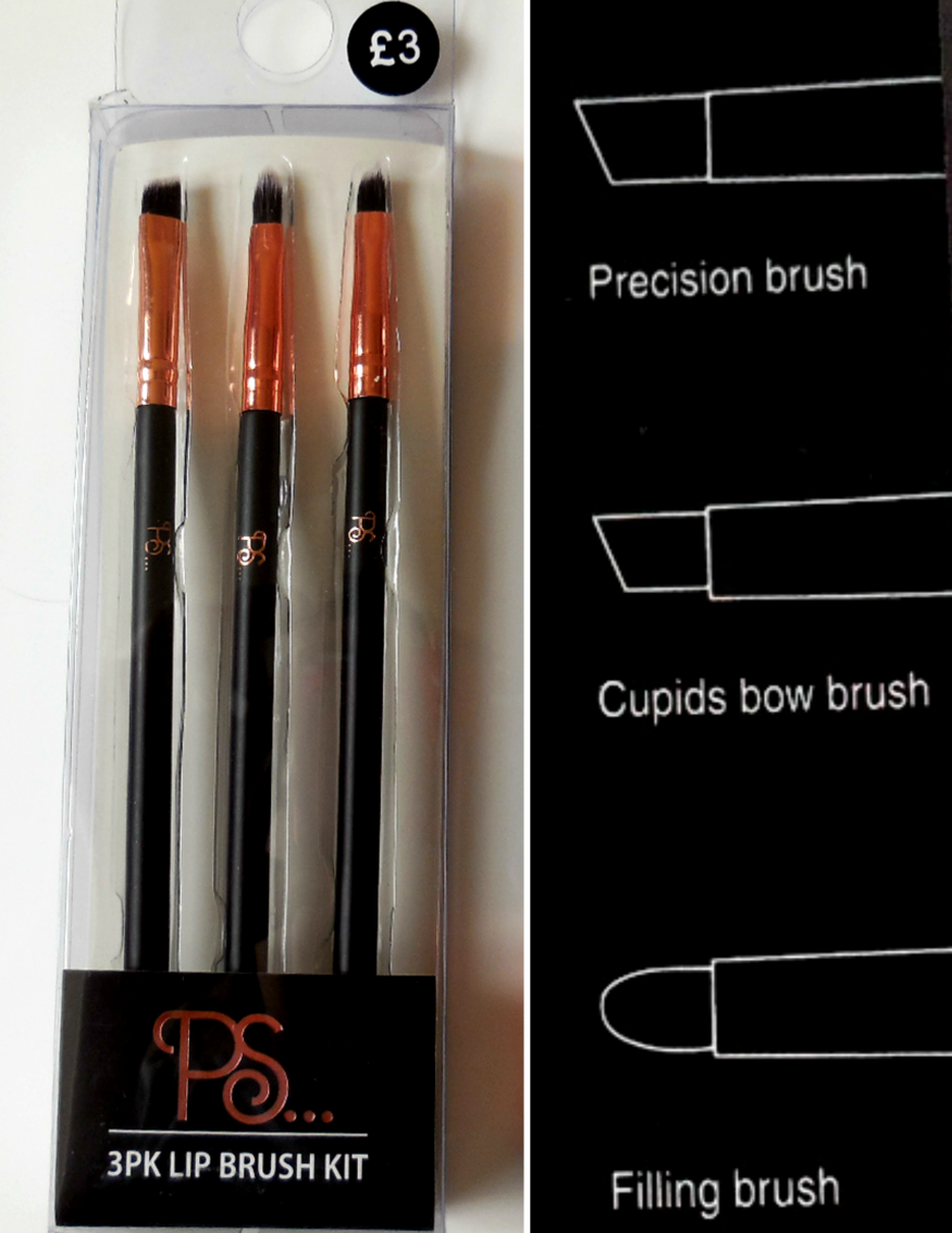 Primark 3 lip brush set