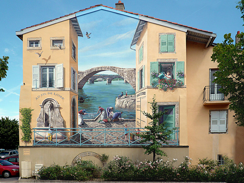 Fresco Paintings by Patrick Commecy