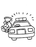 דף צביעה מכונית משטרה