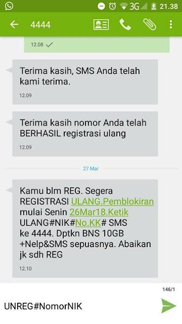 cara unreg kartu prabayar telkomsel yang sudah ter registrasi