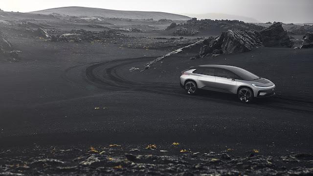 Faraday Future FF 91 on the road