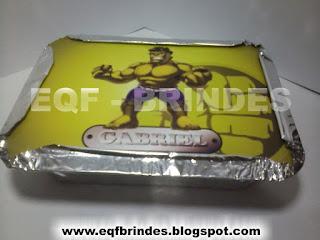 Marmitinha Hulk Kid, lembrancinha hulk kid, brinde hulk kid, tema hulk kid