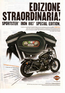 883 iron special edition 2012 adversiting
