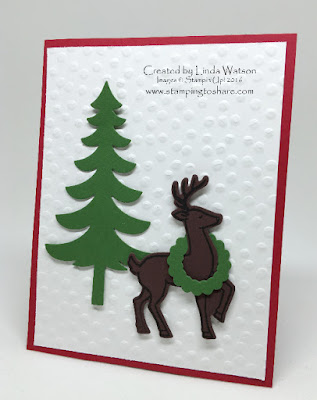 Stampin' Up! Santa's Sleigh bundle Christmas Card