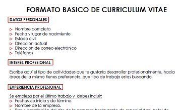 Ejemplo De Curriculum Vitae Peru 2012