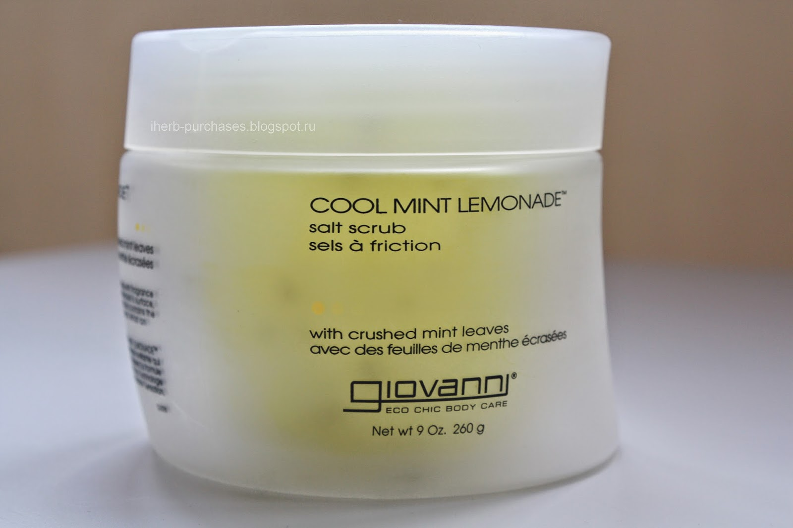 Giovanni, Salt Scrub, Cool Mint Lemonade, 9 oz (260 g)