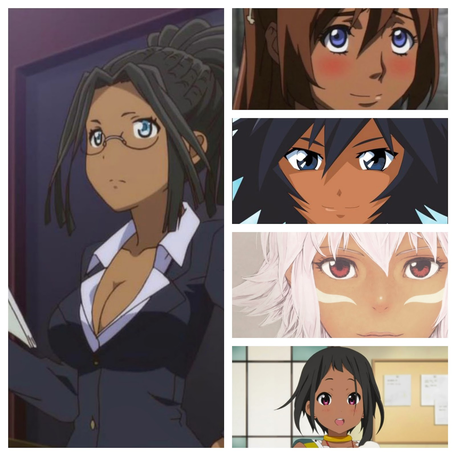 Dark Skin Anime Collage