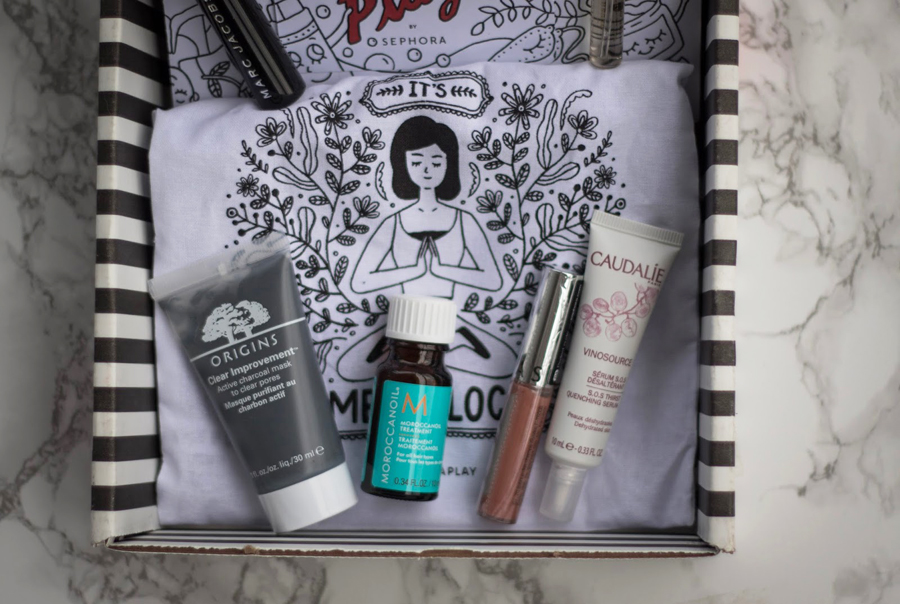 Beauty Blogger, Makeup Box Review, Discount Makeup, Sephora Subscription Box, Marc Jacobs Mascara, Burberry Perfume, Moroccanoil Treatment, Caudalie Serum, Origins Face Mask, Sephora Lipgloss, College Blogger, Lifestyle Blogger, Beauty Subscription Box Review