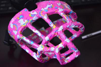 custom pink dog muzzle