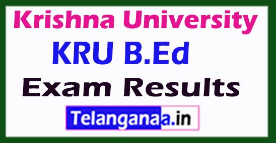 Krishna University KRU B.Ed Exam Results