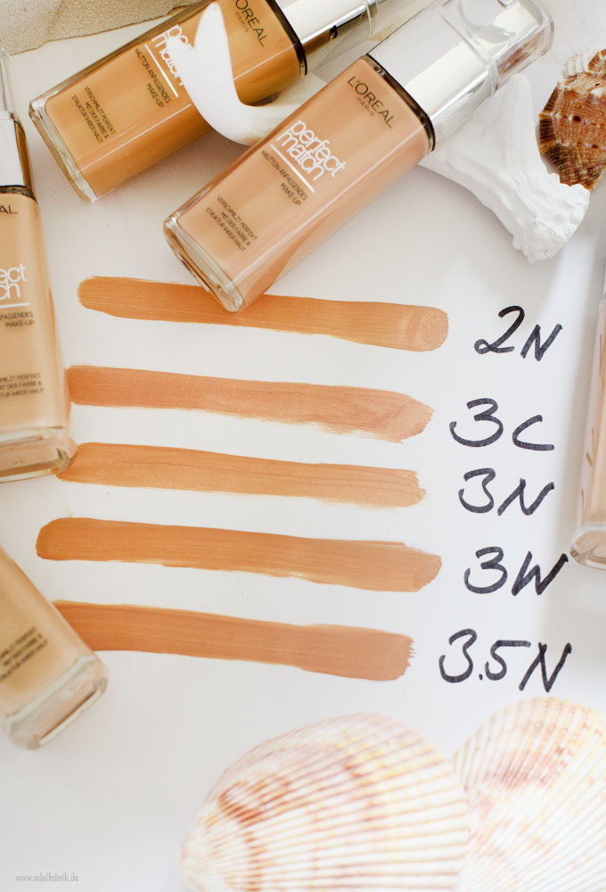 L'Oreal Perfect Match Foundation, Reihe 2N, 3C, 3N, 3W, 3,5N
