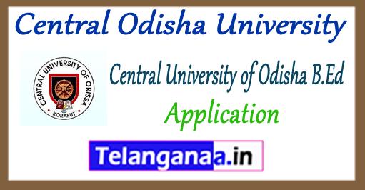 Central Odisha University B.Ed Application Form 2018 Entrance Admit Card