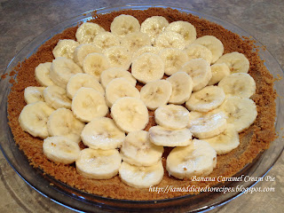 A nice twist on the classic banana cream pie!