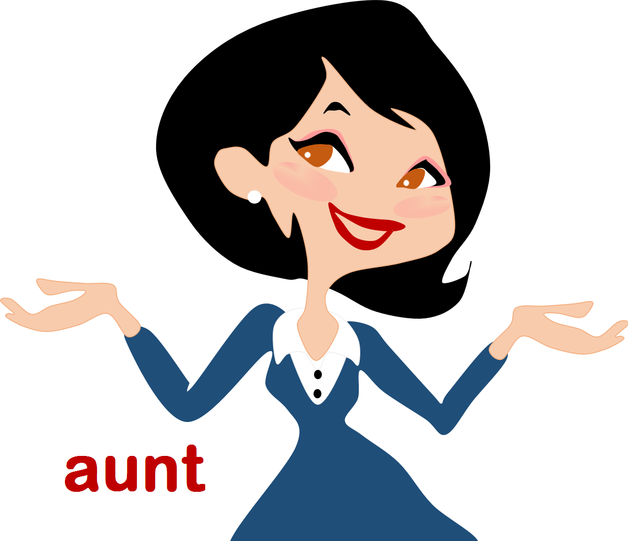 cartoon woman clip art - HD 1279×1127