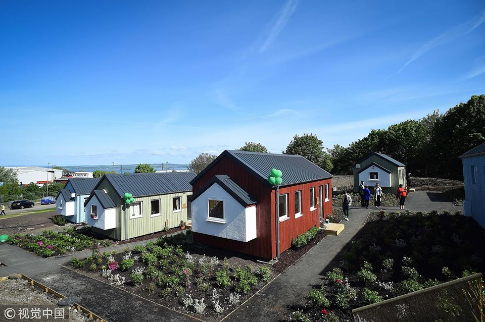 Homeless village opens in Edinburgh, Scotland following celebrity fundraisers