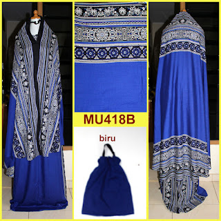 mukena bali motif songket warna biru mu418b