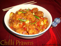 images of Chilli Prawns Recipe / Chinese Chilli Prawns Recipe / Dry Chilli Prawns Recipe