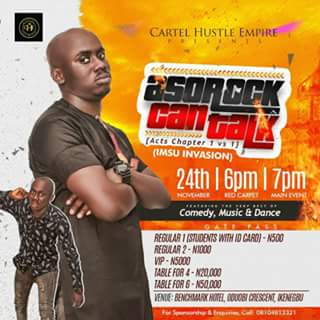 "Plan To Attend ""ASOROCK Can Talk"", An Imsu Comedy Invasion"