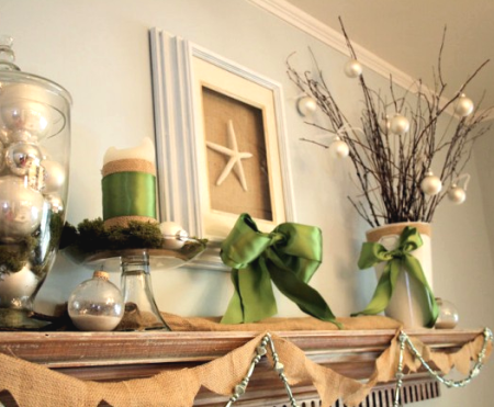 coastal Christmas shelf