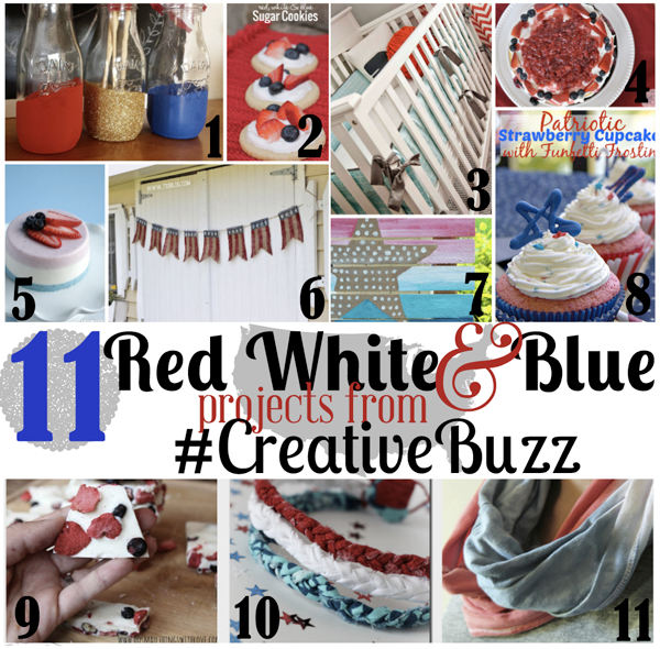 Red, White & Blue projects from #creativebuzz