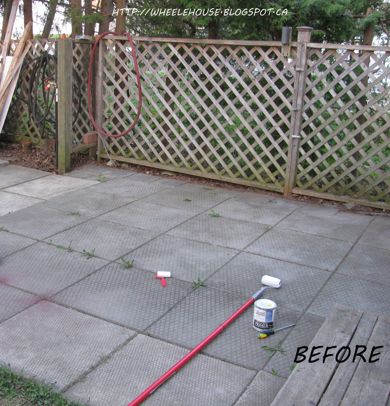Concrete Outdoor Kitchen Countertops: In My Wheele House: Ugly Cement Patio: Makeover & Dead Bodies