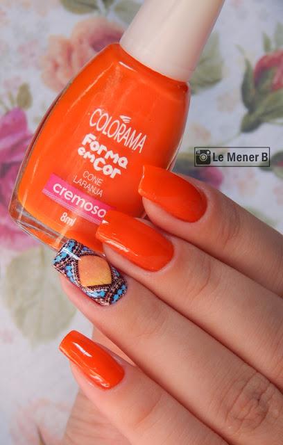 unhas-com-esmalte-laranja