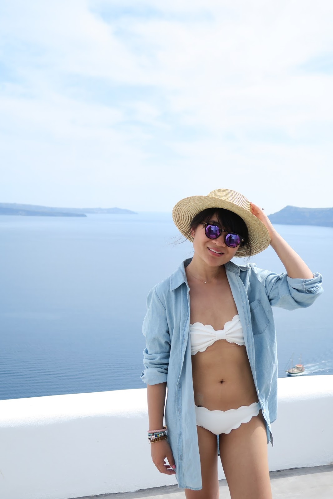santorini greece outfit inspiration marysia swim