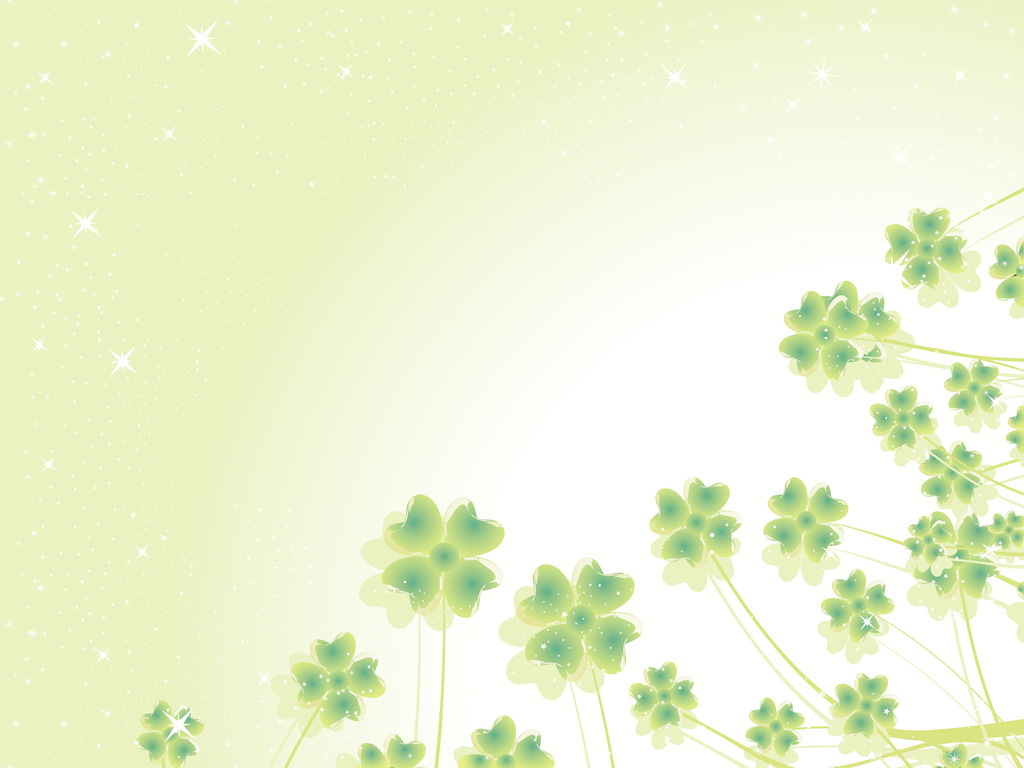 Abstract clover PPT background