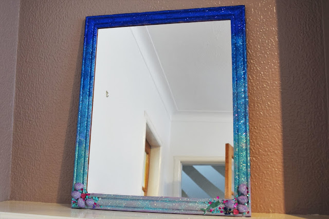 DIY Ombre Glitter Mermaid Mirror