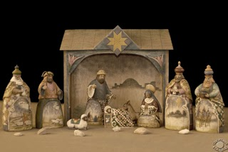 Cramer Imaging's professional quality stylized fine art photograph of a Nativity scene with rocks in Pocatello, Bannock, Idaho