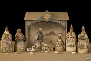 Cramer Imaging's professional quality stylized fine art photograph of a Christmas Nativity scene with rocks in Pocatello, Bannock, Idaho